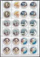 India 2018 Mahatma Gandhi round odd shaped stamps Famous People set blk/4  MNH