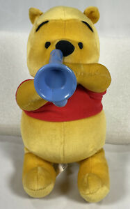 RARE Disney Fisher Price MAKIN MELODIES POOH Horn Plays Songs,Talks 2002 Vintage