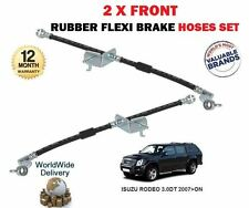 FOR ISUZU RODEO 3.0DT 2007->NEW 2 X FRONT LEFT + RIGHT BRAKE FLEXI RUBBER HOSE