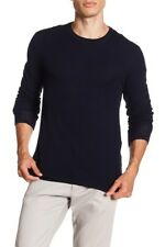 VME331 NWT VINCE WOOL DOUBLE LAYER CREWNECK MEN SWEATER SIZE S $295
