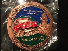 Mercedes G Modell Emblem Abzeichen Plakette G-Klasse Schöckl GrandEdition Kupfer