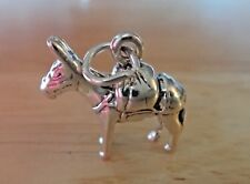 Sterling Silver 3D 16x17mm Pack Donkey Mule Burro Ass Charm