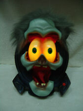 ANIMATED HALLOWEEN DOOR / WALL HEAD TALKS/LIGHTS/MOUTH MOVES PROP FREE SHIPPING