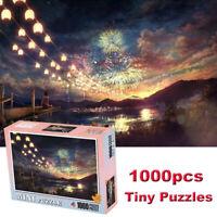 Gorgeous Fireworks 1000 Piece Assembly Jigsaw Puzzles Landscape Tiny Puzzle Toy