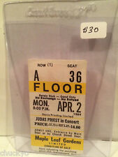 Judas Priest Concert Ticket Stub 4-2-1984 Toronto Maple Leaf Gardens - Rare