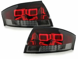 Baklyktor für AUDI TT 8N 99-06 Red Smoke LED LDAU49EZ XINO DE