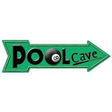 "Pool Cave Novelty Metal Arrow Sign 5"" x 17"""