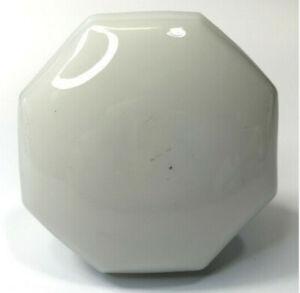 "VTG Antique Milk Glass Octagon 8 Point Doorknob Threaded Shank 2 1/4"" 1920s"