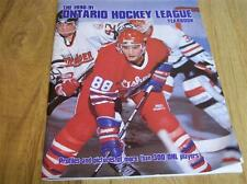 ERIC LINDROS and the 1990 & 1991 OHL YEARBOOK