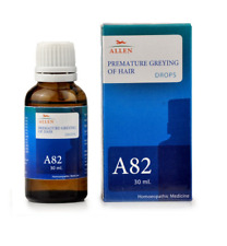 Allen Homeopathic A82 Premature Greying Of Hair Drops (30ml) Controls Hair Fall