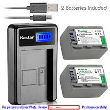 Kastar Battery LCD Charger for Sony NP-FP70 FP71 Sony DCR-HC26 DCR-HC30 DCR-HC32