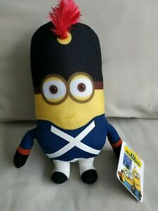 """Despicable Me Minion 10"""" Plush Toy Soft and Cuddly solider Character"""