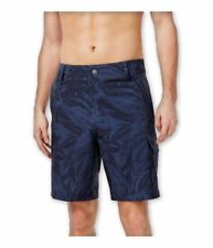 Speedo Men's Palm Pattern Swim Board Shorts, Granite Blue, 36