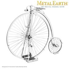 Fascinations Metal Earth High Wheel Bicycle Penny Farthing Laser Cut 3D Model