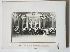 1908 *ANNA HELD-PARISIAN MODEL*VINTAGE ORIGINAL MOVIE STILL 8X10 MATTED B&W (AS)
