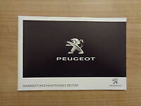 PEUGEOT SERVICE HISTORY AND MAINTENANCE RECORD BOOK GENUINE NEW