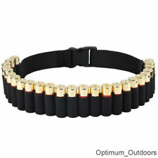 25 Shell Shotgun Cartridge Belt Ammo Holder 12 / 20 GA Gauge Hunting Clay Pigeon