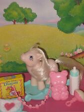 My little pony Vintage G1: Original  Baby BLOSSOM w/ Accessories
