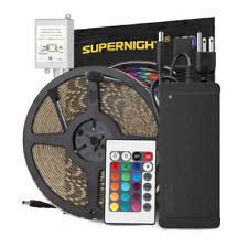 SUPERNIGHT® 10m 5050 RGB 600 LED Light Strip Waterproof+24Key Remote+DC24V Power