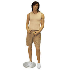 Male Euro Mannequin Wig & Stand Fashion Clothes Hanger Full Body Display New