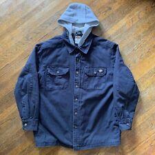 0dcd8f8e839e3 DICKIES Jacket Coat Black Lined Hood Zip Button Up Work Wear Men's Size M  Medium