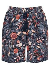 Evans shorts ladies plus size 20 22 24 26 28 30 navy rust floral pockets