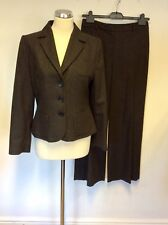 SMART HOBBS BROWN  WOOL BLEND JACKET & TROUSER SUIT SIZE 10/12
