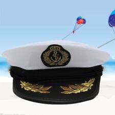 Unisex Yacht Captain Sailor Navy Cotton Hat Cap Costume Marine Party Fancy Dress