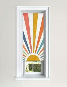 Lister Cartwright Blackout Roller Blinds Windows Child Safety -Painted Sun