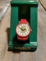 Vintage 1991 Lorus Jim Henson's Muppets Kermit the Frog Quartz Wrist Watch NOS