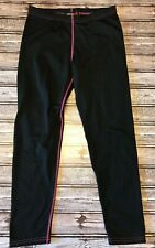 Rossignol Women's Base Layer Pants Black Pink 10 Long Underwear