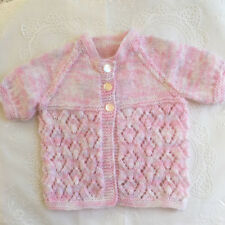 * New Born Plus * Baby Jacket * (Ideal for Summer) * Pink * Aust Hand Knitted