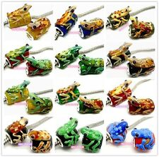 20PCS Lovely Lizard & Frog Lampwork Glass Beads Fit European Charm Bracelet