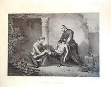 MIGUEL DE MAÑARA.  Litografía original,, 1862