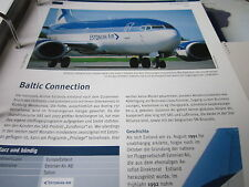 Airlines Archiv Estland Estonian Air Baltic Connection 2S