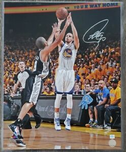 Stephen Curry signed autographed 16x20 Photo. Official Stephen Curry COA. RARE!