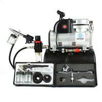 OPHIR 0.2mm 0.3mm 0.5mm 0.8mm Gravity Dual Single Action Airbrush Compressor Kit
