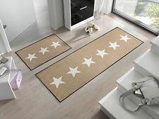 Ab Lager Fußmatte wash+dry Design Stars sand ca. 50x75cm waschbar  Matte