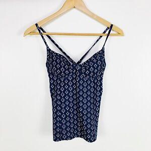 $79 Athleta Taza Kaimana Navy Tankini Swimsuit Top Size 32 B/C