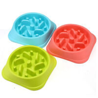 Slow Feeder Dog Bowl Anti Bloat No Gulp Puppy Pet Cat Interactive Feeding BowlDS