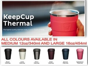 Keep Cup Thermal- ALL COLOURS- 340ml/ 12oz and 454mL / 16oz KeepCup GENUINE