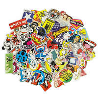 100 Aufkleber / Sticker-bomb Retro-, Graffiti- Style,Tuning Logos & Marken -Set2
