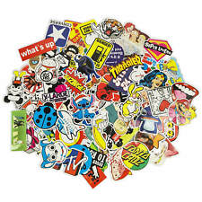 100 Aufkleber / Sticker-bomb Retro-, Graffiti- Style,Tuning Logos & Marken -Set2
