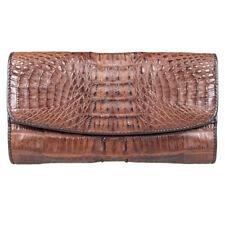 PKK Genuine Crocodile Leather Clutch Trifold Wallet Purse Tail PCM03-T Kango