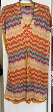 Missoni Kaftan Beach Cover Up IT 40 Bright Colourful Pink Orange