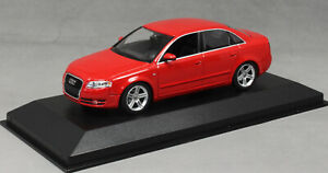 Minichamps Maxichamps Audi A4 Saloon in Red 2004 940014401 1/43 NEW