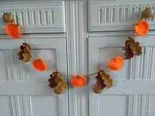 Crochet Autumn Bunting Pumpkins & Oak Leaves Home Decor Dresser Summerhouse Gift