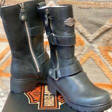 HARLEY-DAVIDSON Women's Ardsley Motorcycle Boot, Size 5.5/Black