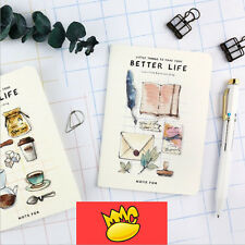 """""""Better Life"""" Exercise Book A6 Pack of 4 Lined Study Notebook Pocket Notepad"""