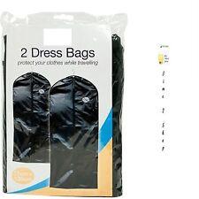 2x Paquete adaptable Mochila Vestido Ropa Bolsas Viaje Protector Transportador